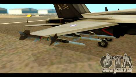 FA-18 Jolly Roger Black pour GTA San Andreas vue de droite