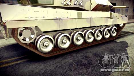 Leopard 2A6 für GTA San Andreas zurück linke Ansicht