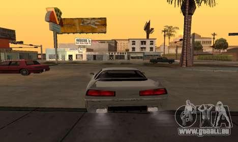 Infernus BanDit pour GTA San Andreas sur la vue arrière gauche