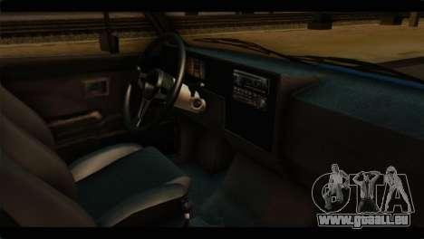Volkswagen Caddy Mk1 Stock pour GTA San Andreas vue de droite