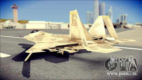 F-22 Raptor Desert Camo pour GTA San Andreas laissé vue