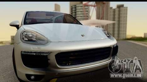 Porsche Cayenne S 2015 pour GTA San Andreas sur la vue arrière gauche