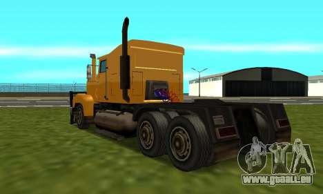 PS2 RoadTrain pour GTA San Andreas laissé vue