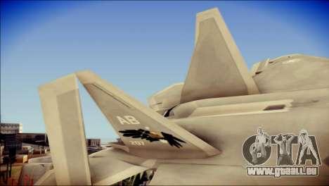 F-22 Gryphus, Falco and Antares pour GTA San Andreas sur la vue arrière gauche
