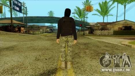 Sicario Skin v10 pour GTA San Andreas deuxième écran