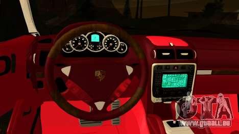 Porsche Cayenne S 2015 pour GTA San Andreas vue intérieure