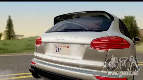 Porsche Cayenne S 2015 pour GTA San Andreas vue de droite