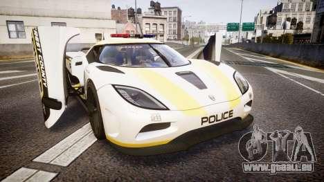 Koenigsegg Agera 2013 Police [EPM] v1.1 Low Qual für GTA 4