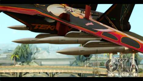 SU-35 Flanker-E Tekken pour GTA San Andreas vue de droite