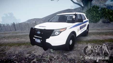 Ford Explorer Police Interceptor [ELS] slicktop pour GTA 4