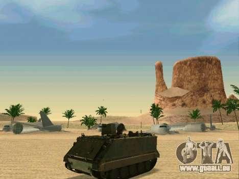 Le M113 Blindés De Transport De Personnel pour GTA San Andreas sur la vue arrière gauche