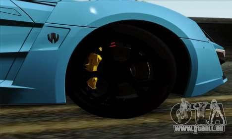 Lykan Hypersport 2014 EU Plate Livery Pack 1 pour GTA San Andreas sur la vue arrière gauche