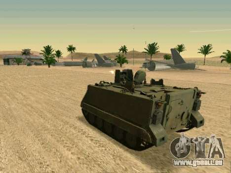 Le M113 Blindés De Transport De Personnel pour GTA San Andreas vue de droite