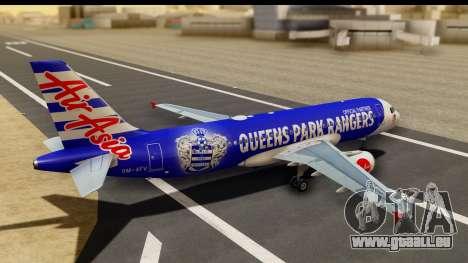Airbus A320-200 AirAsia Queens Park Rangers pour GTA San Andreas laissé vue