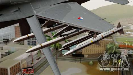 F-16AM Fighting Falcon für GTA San Andreas rechten Ansicht