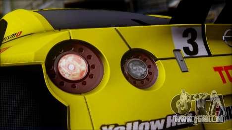 Nissan GTR R35 JGTC Yellowhat Tomica 2008 für GTA San Andreas Seitenansicht