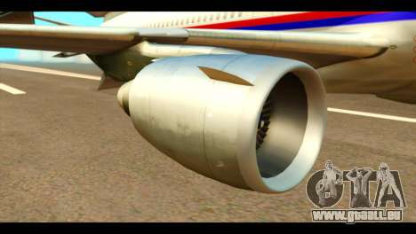 DC-10-30 PLL LOT pour GTA San Andreas vue de droite