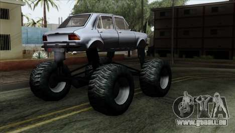 Zastava 1100 Monster pour GTA San Andreas laissé vue