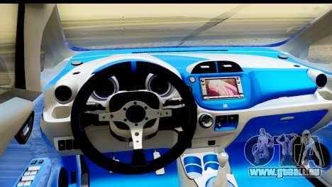 Honda Fit 2009 JDM Modification pour GTA San Andreas vue intérieure