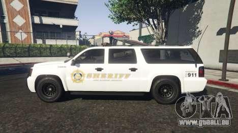 GTA 5 Declasse Sheriff SUV white vue latérale gauche