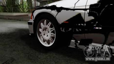 BMW M3 E36 Drift Editon pour GTA San Andreas sur la vue arrière gauche
