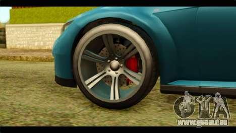 GTA 5 Ubermacht Zion XS IVF für GTA San Andreas zurück linke Ansicht