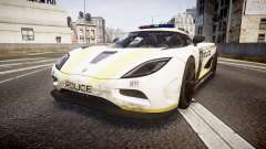 Koenigsegg Agera 2013 Police [EPM] v1.1 PJ2