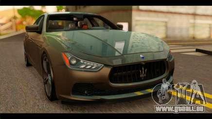 Maserati Ghibli S 2014 v1.0 SA Plate für GTA San Andreas