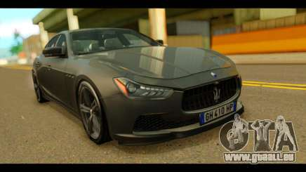 Maserati Ghibli S 2014 v1.0 EU Plate pour GTA San Andreas