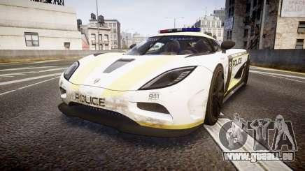 Koenigsegg Agera 2013 Police [EPM] v1.1 PJ2 pour GTA 4