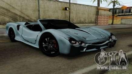 Mitsuoka Orochi Nude Top Roadster für GTA San Andreas