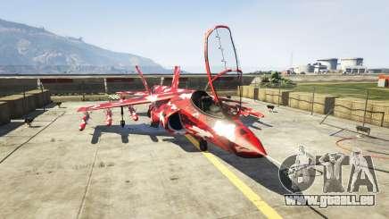 Hydra red camouflage für GTA 5