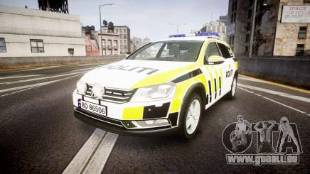 Volkswagen Passat B7 Police 2015 [ELS] marked für GTA 4
