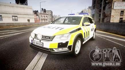 Volkswagen Passat B7 Police 2015 [ELS] marked pour GTA 4