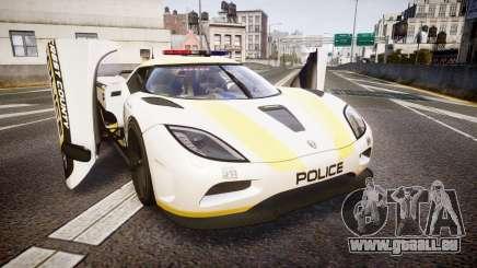 Koenigsegg Agera 2013 Police [EPM] v1.1 Low Qual pour GTA 4