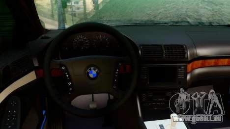 BMW 540i E39 pour GTA San Andreas sur la vue arrière gauche