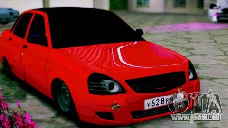 Lada 2170 Priora Le Spartak Moscou pour GTA San Andreas laissé vue