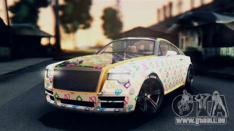 GTA 5 Enus Windsor IVF für GTA San Andreas Seitenansicht