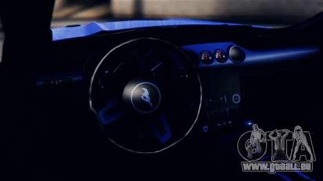 Ford Mustang GT 2015 pour GTA San Andreas vue arrière