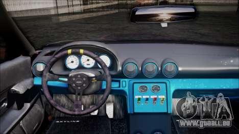 Nissan Skyline GT-R R32 Battle Machine pour GTA San Andreas vue arrière
