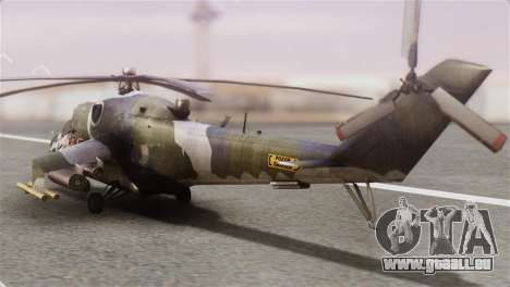 Mil Mi-24V Czech Air Force Tigermeet pour GTA San Andreas laissé vue