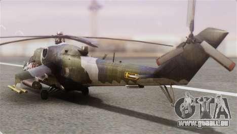 Mil Mi-24V Czech Air Force Tigermeet für GTA San Andreas linke Ansicht
