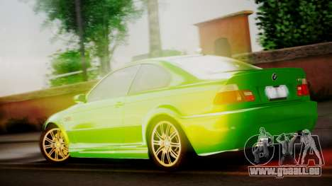 BMW M3 E46 v2 pour GTA San Andreas vue de droite