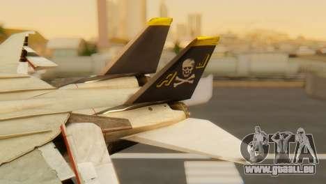 F-14A Tomcat VF-202 Superheats pour GTA San Andreas sur la vue arrière gauche