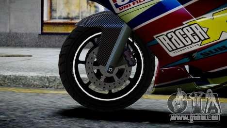 Bike Bati 2 HD Skin 2 pour GTA 4 Vue arrière de la gauche