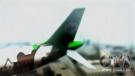 Airbus A320-200 AirAsia Line für GTA San Andreas zurück linke Ansicht