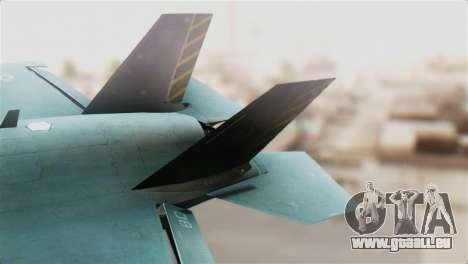 F-35B Lightning II pour GTA San Andreas sur la vue arrière gauche