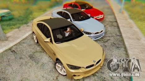 BMW M4 2015 IVF pour GTA San Andreas laissé vue