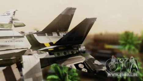 F-14D Super Tomcat VF-2 Bounty Hunters pour GTA San Andreas sur la vue arrière gauche