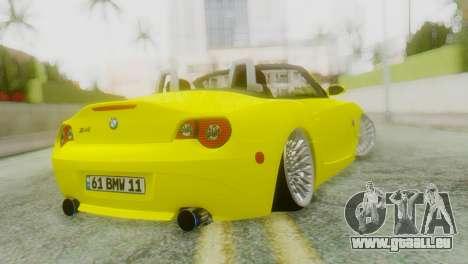 BMW Z4 Construction Ens pour GTA San Andreas laissé vue